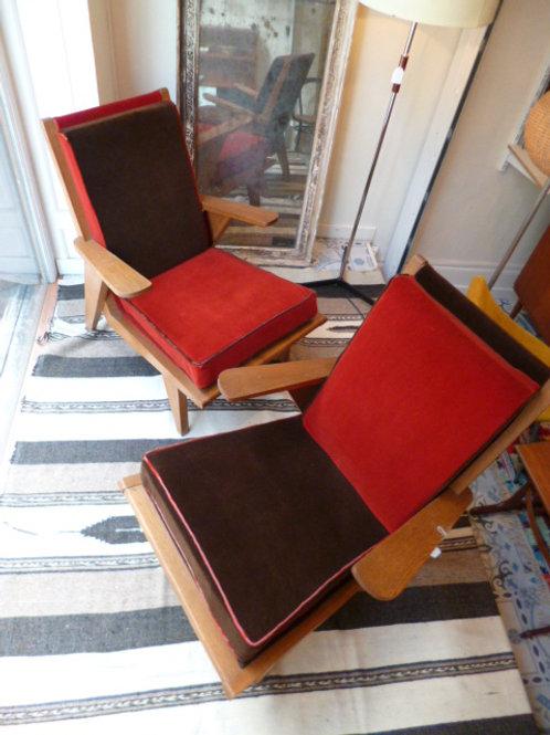 Paire de fauteuils reconstruction