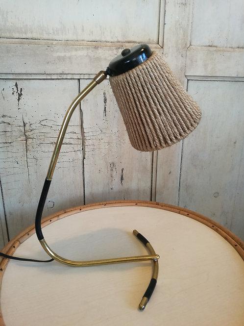 Lampe en laiton et cordage