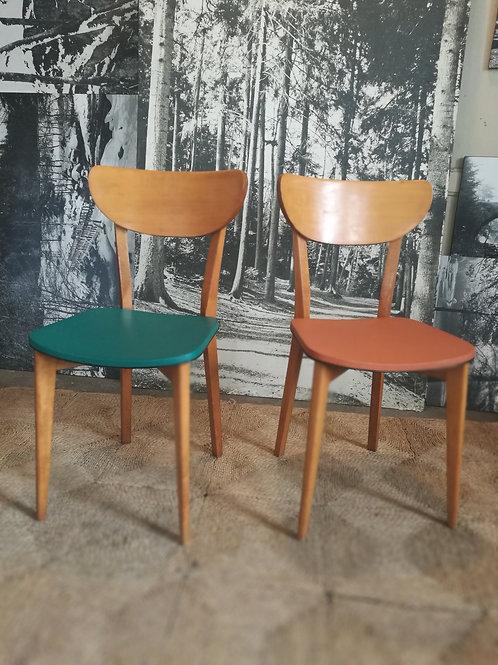 Paire de chaises 1960