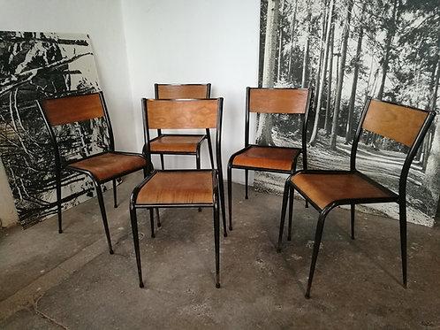 Set de 5 chaises Mullca