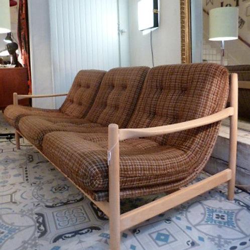 Canapé scandinave en hêtre