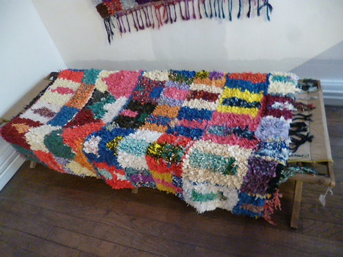 tapis boucherouite 162 x131 cm