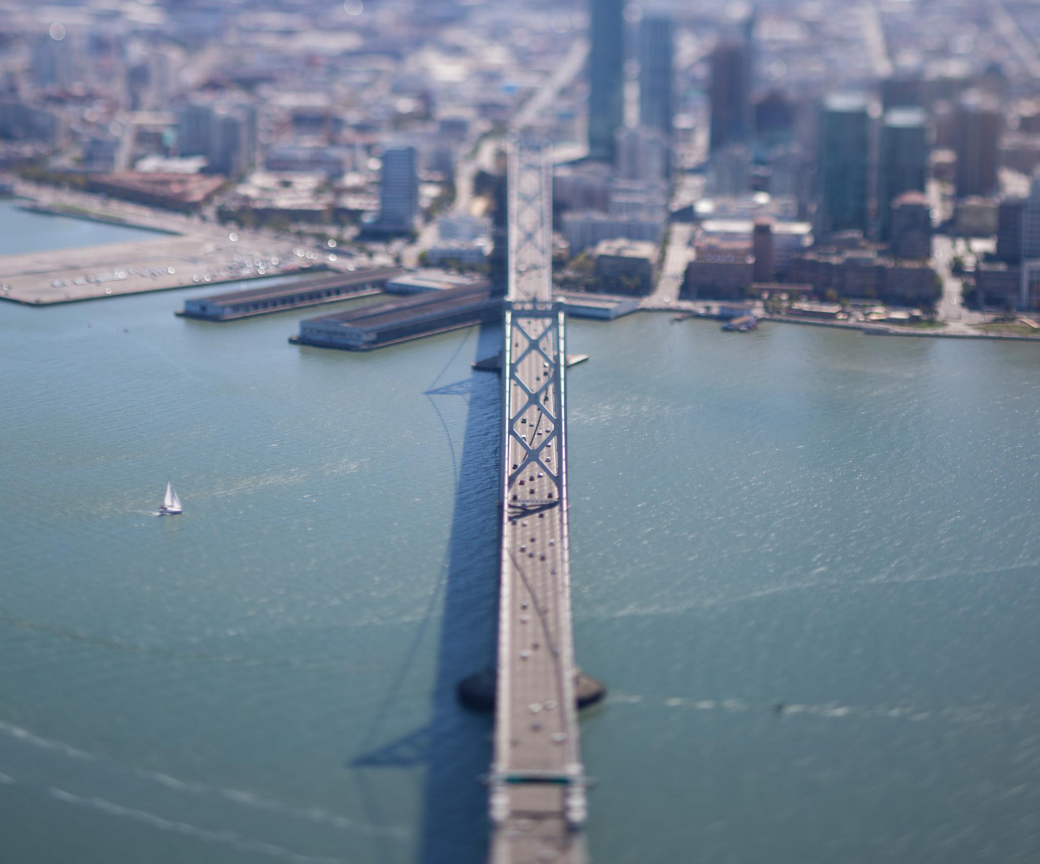 Bay Bridge lined up