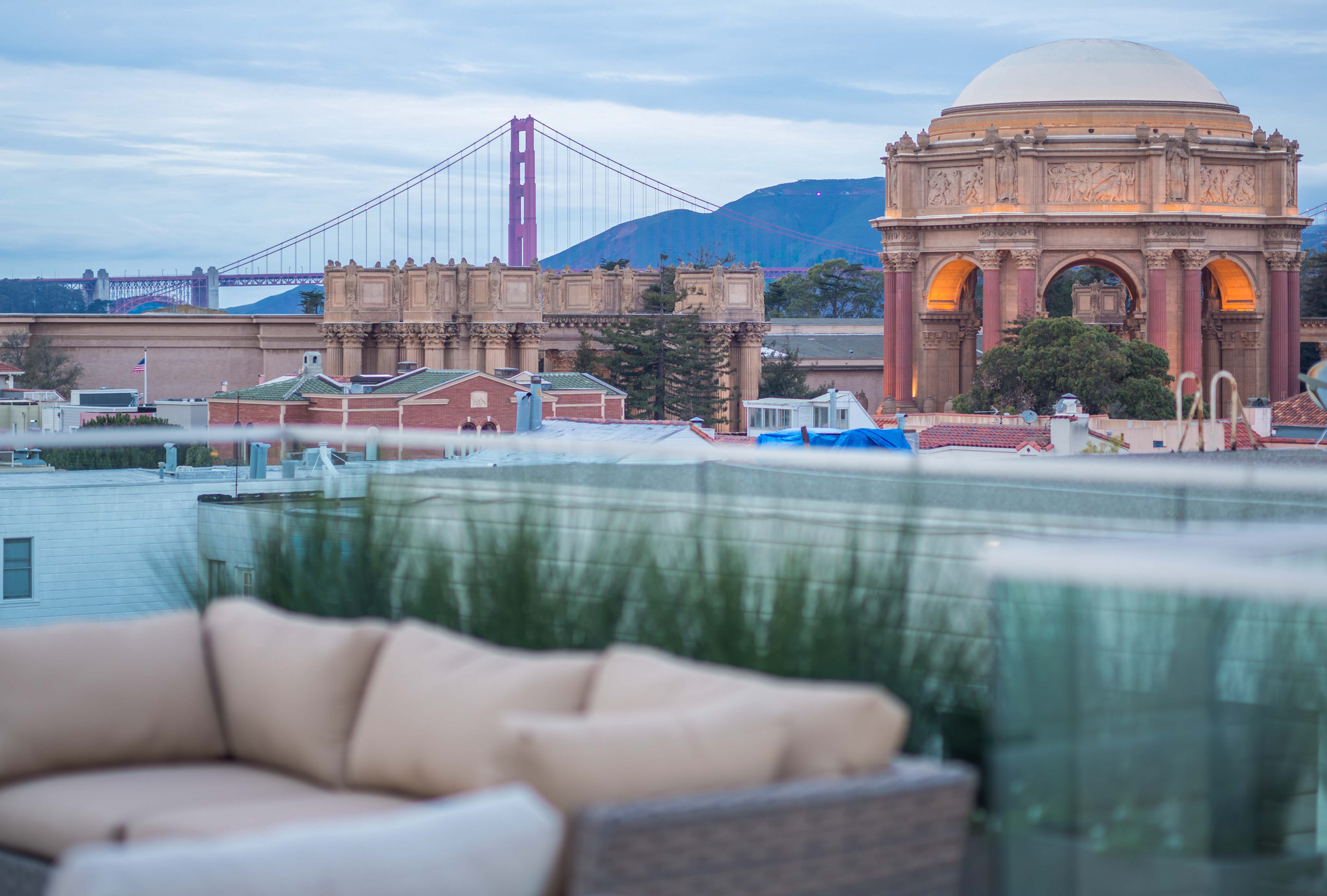 Palace & GGB rooftop view