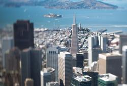 TransAmerica/Coit Tower in focus