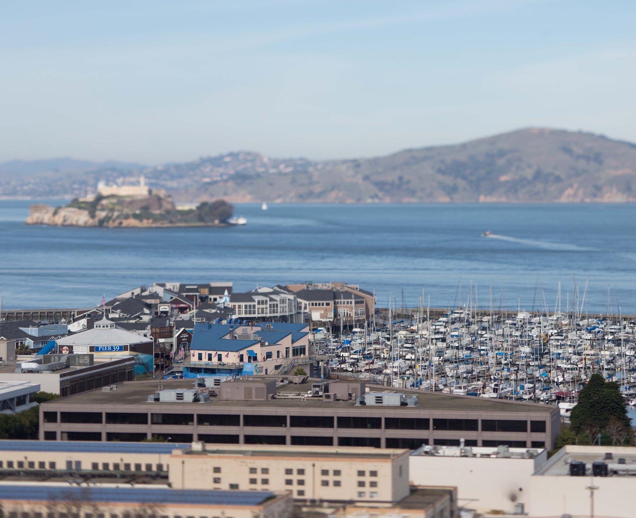 Pier 39, Alcatraz in background