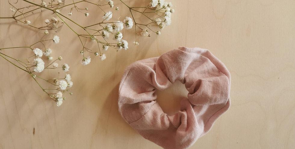 Big Faded Pink linen scrunchie