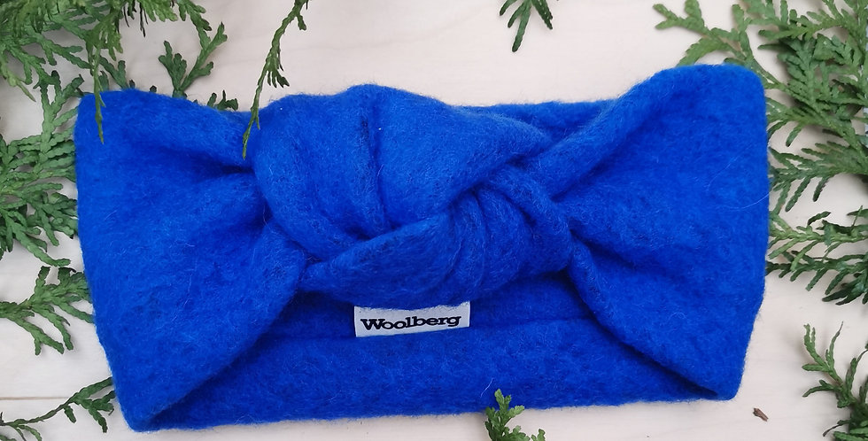 KNOT HEADBAND BRIGHT BLUE
