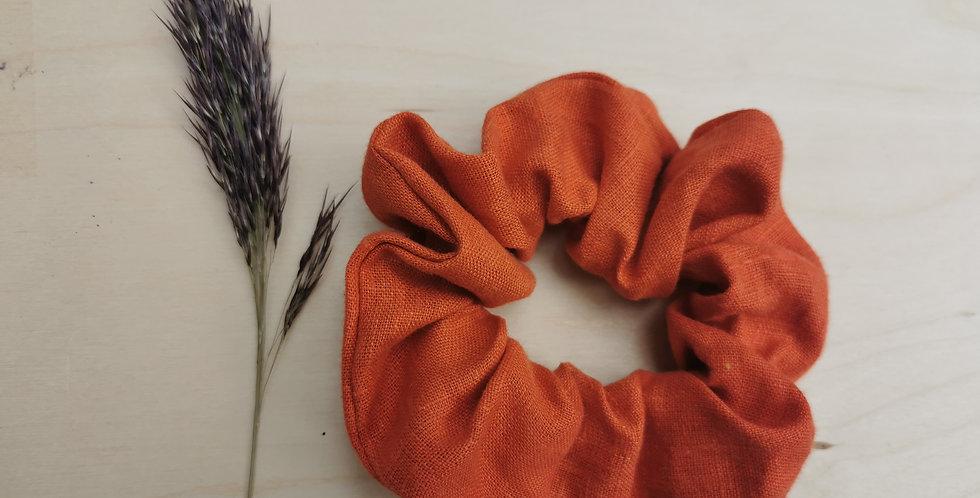 Big Orange linen hair scrunchie