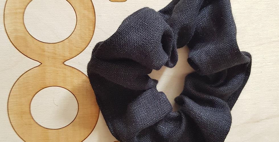 Big black hair scrunchie
