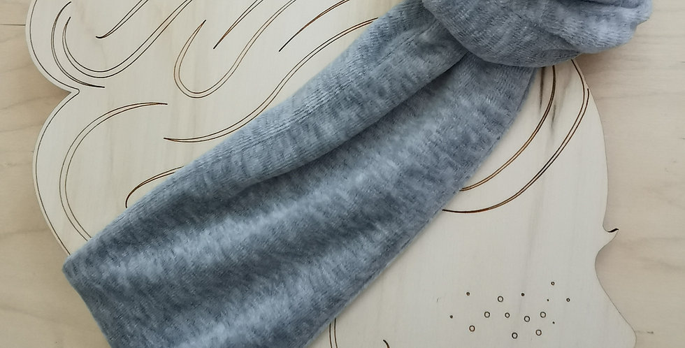 Velour WIRE HEADBAND Gray melange