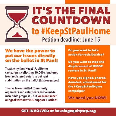 Final Countdown for Rent Stabilization Signature Collection