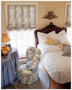 Английская штора для спальни.