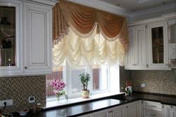 Французские шторы для кухни.