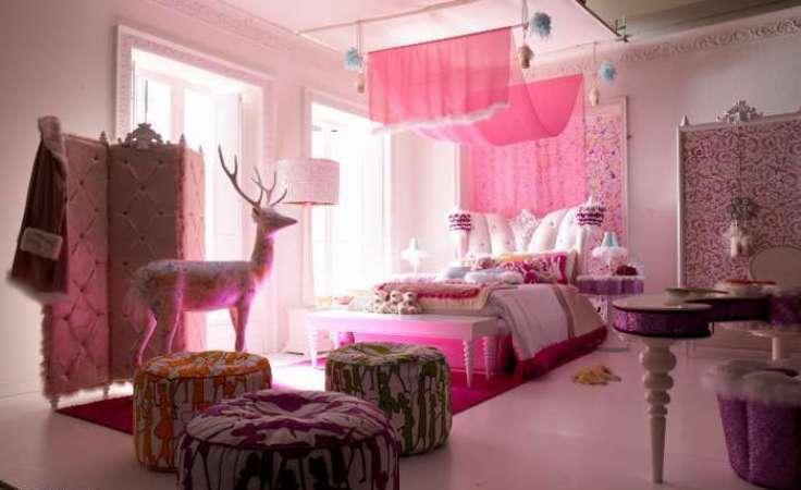 Декоративные шторы в спальню.