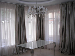 шторы для углового окна гостиной
