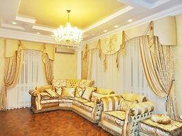 Дизайнерские шторы для гостиной