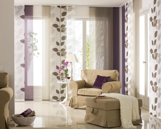 Японские шторы панели для гостиной на заказ.