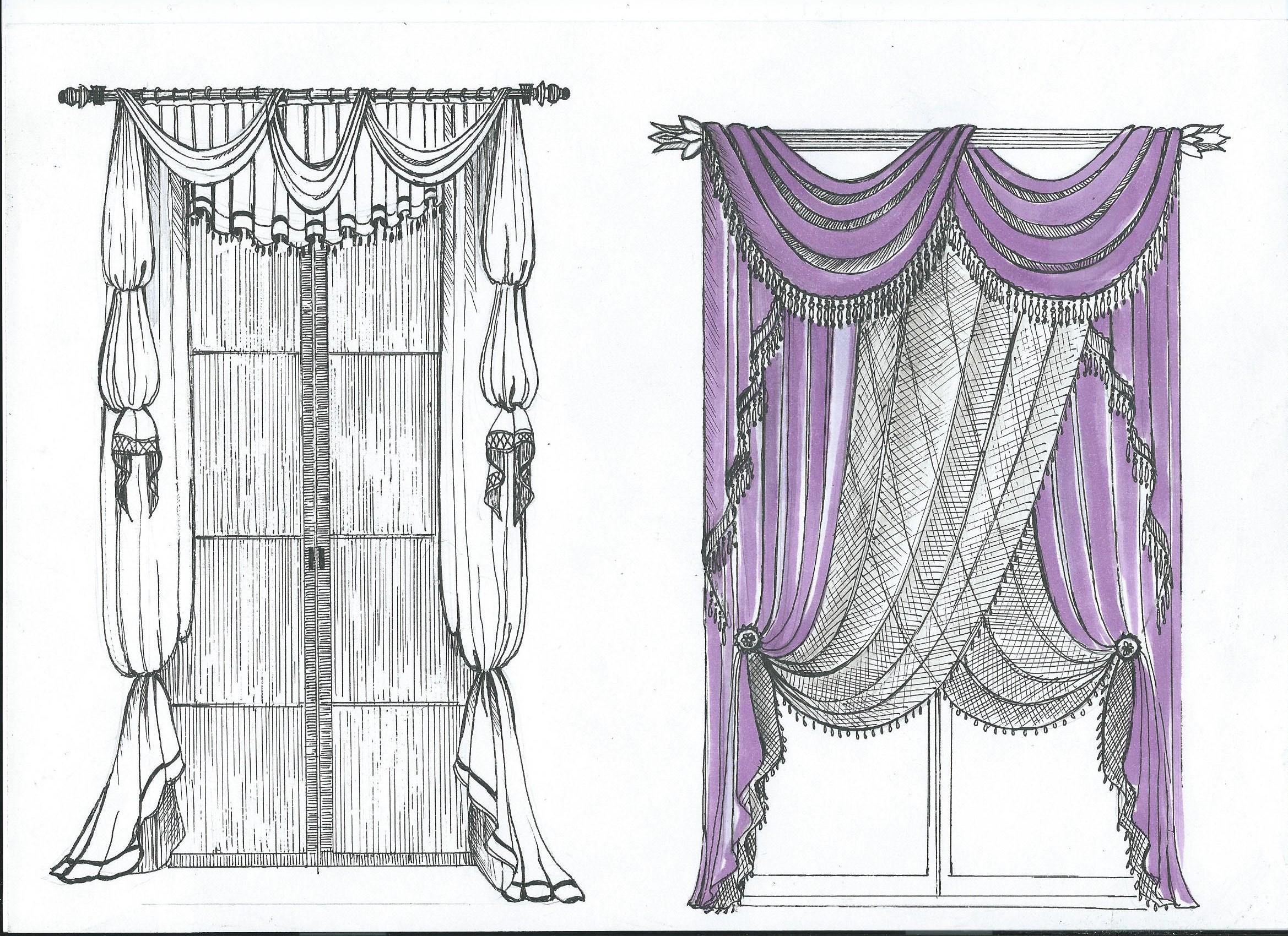 Дизайнерские шторы.