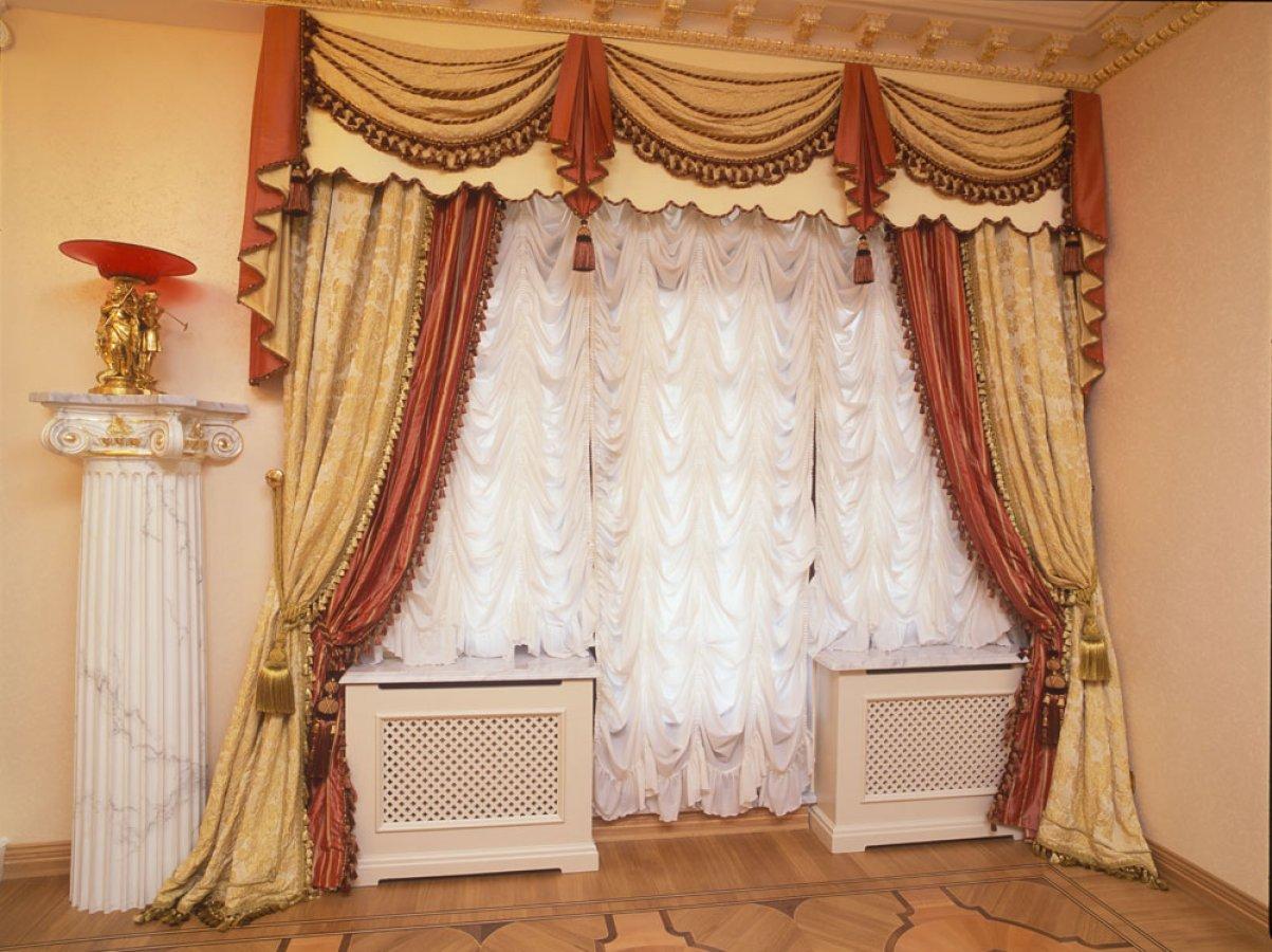 Французские шторы для гостиной.