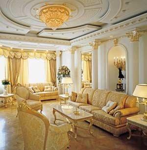 Элитные шторы для зала.