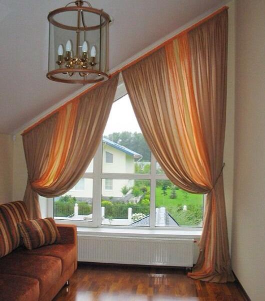 шторы для косого окна.