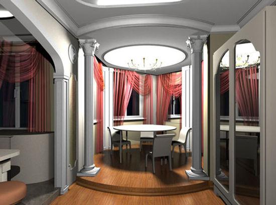 Модерн для гостиной в столовую зону