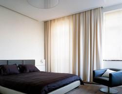 Потолочные шторы в спальню.