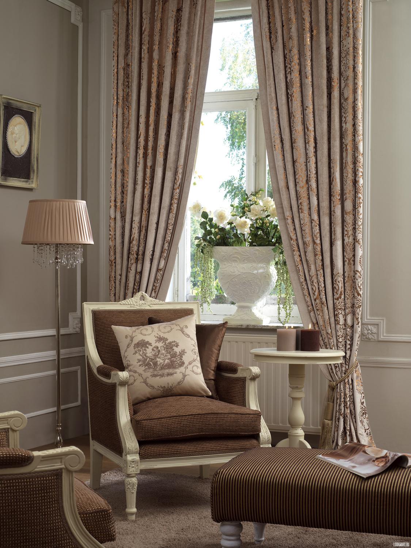 Портьерные шторы в гостиную.