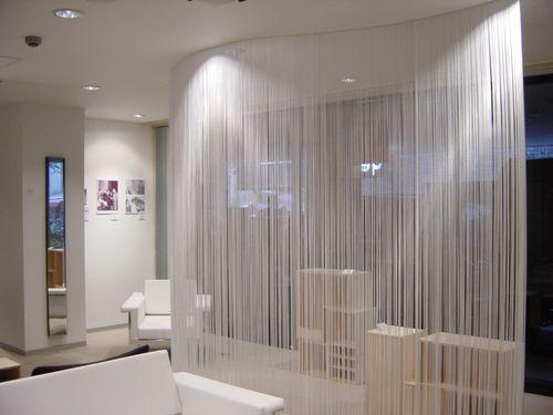 Нити - верёвочные шторы для гостиной и столовой зоны.