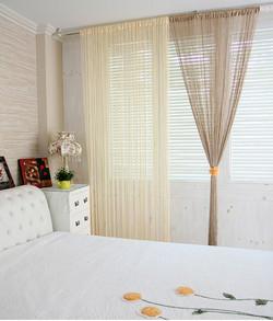 Нити - верёвочные шторы для спальни на заказ.