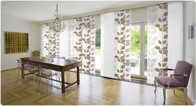 Японские шторы панели для гостиной зоны.