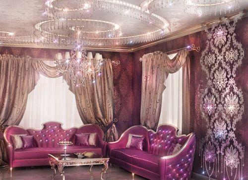 Декоративные шторы для гостиной.