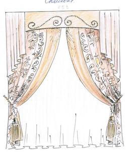 Дизайнерские шторы в зал.