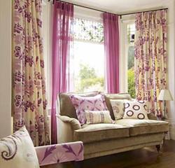 Льняные шторы для гостиной.