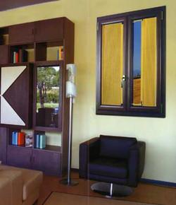 Вертикальные шторы плиссе для гостиной.