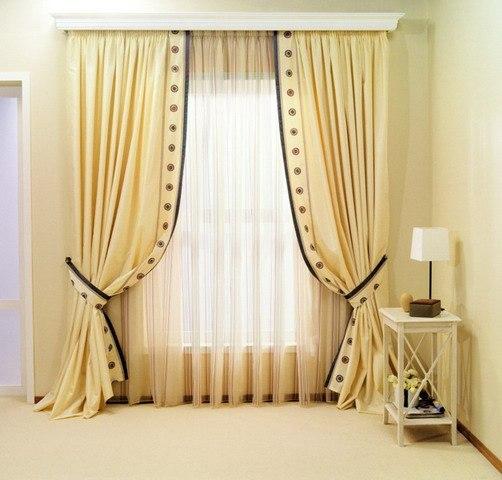 Портьерные шторы для гостиной.