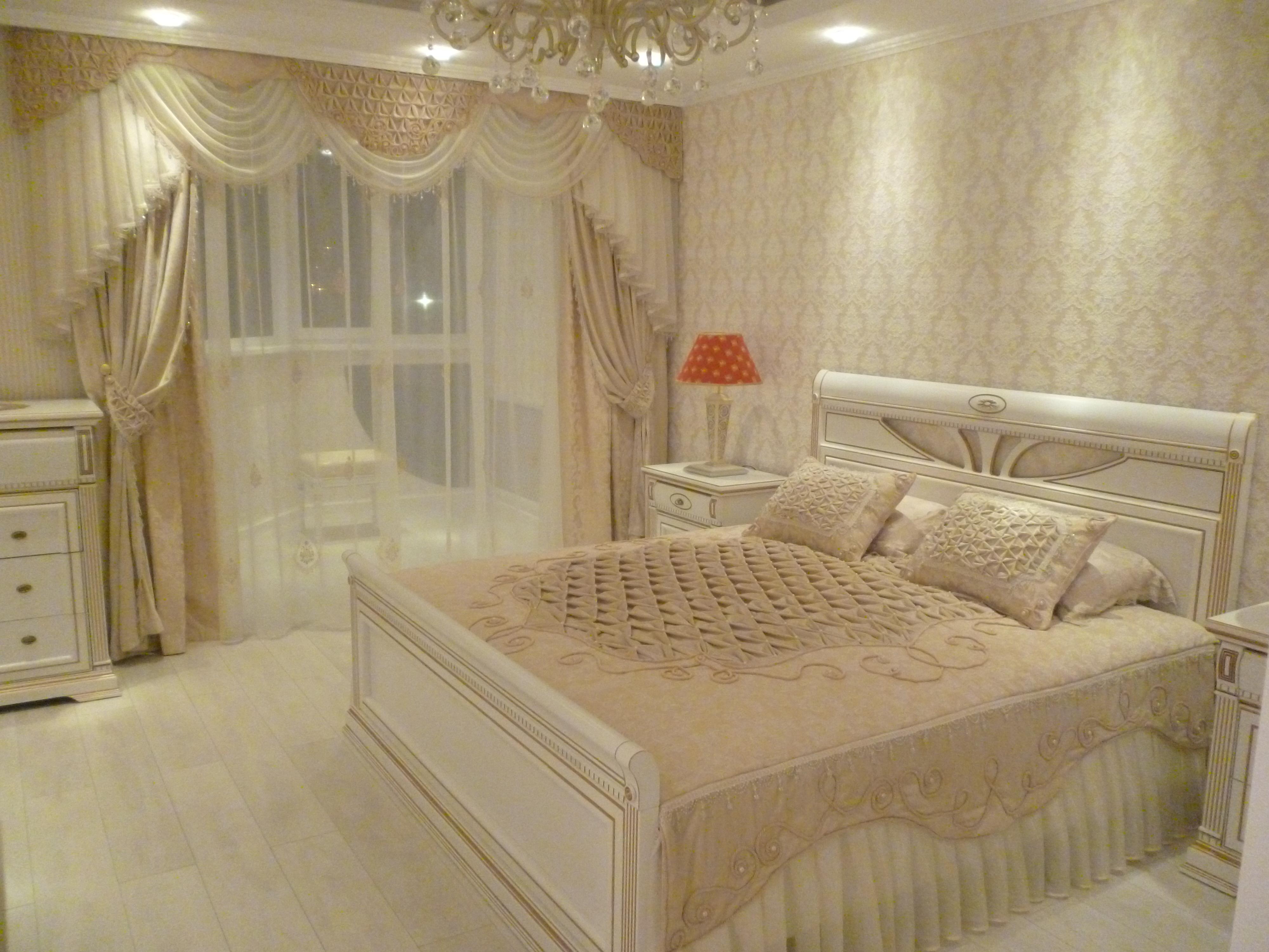шторы для спальни на заказ индивидуальный пошив от салона