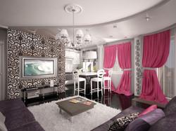 Декоративные шторы для зала.