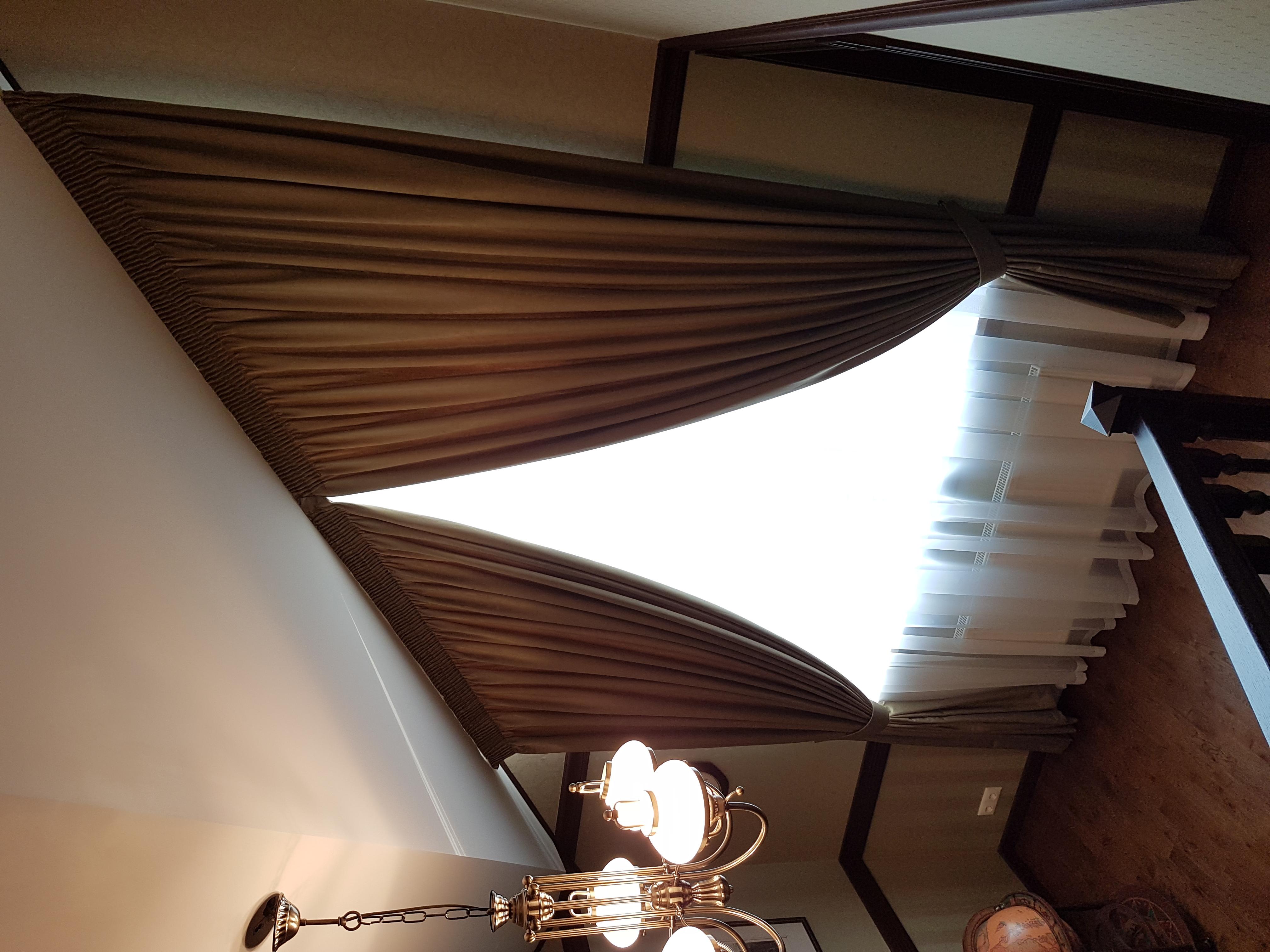 шторы на косое окно в кабинет