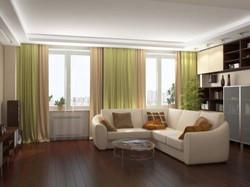 Шторы для гостиной в стиле минимализм.