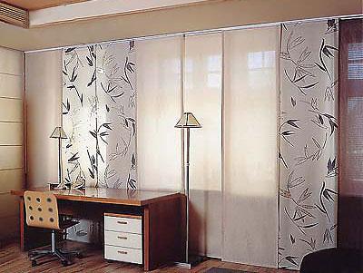 Японские шторы панели для кабинета.