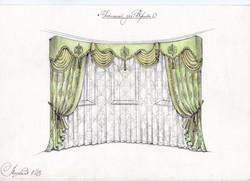 Дизайнерские шторы для гостиной.