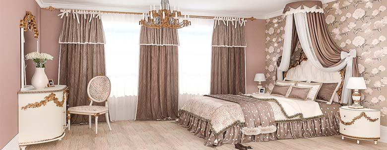 Портьерные шторы в спальню.