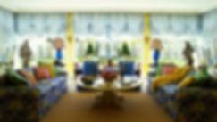 Австрийские шторы в гостиную