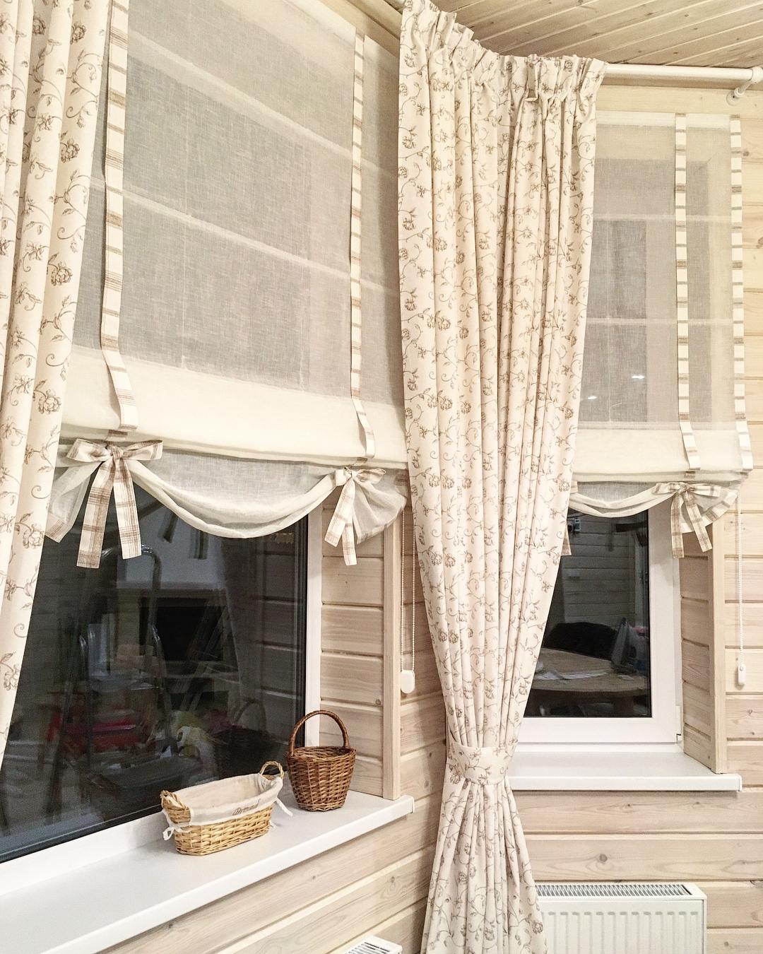 римские шторы для загородного дома