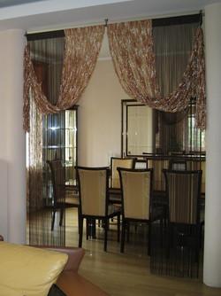 Нити - верёвочные шторы для зала.