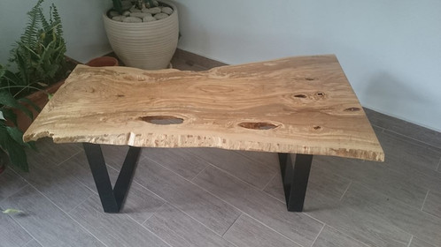 Unique Hand Made Table   Olive Wood. Side Table, Coffee Table, Magazine  Table