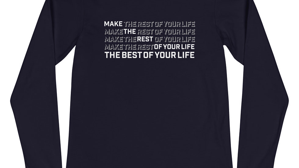 BMT (best of your life - white print) long sleeve t-shirt
