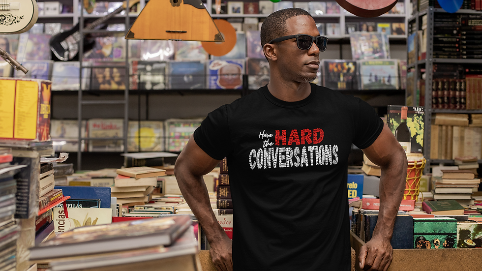 Hard Questions (white/red print) short sleeve t-shirt